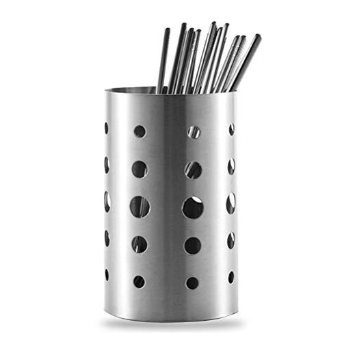 Estuche de almacenamiento redonda de acero inoxidable palillos cuchara Tenedor desagüe de la cocina Clasificación de contenedores de almacenamiento caja de la cocina Gadget Para el hogar Accesorios de