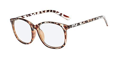 KINLOU Mujeres Gafas - Clásico Retro Negro Marrón Cuadrado Gradiente Ligero Monturas de Gafas Lentes Transparentes Moda Accesorios para Hombre Mujer, Marrón claro