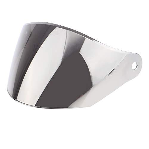 Shiwaki Protector Facial Completo De Visera Para Casco JK-902 JK-316 GXT-902 Dirt Bike Reemplazar Ensamblaje - Lente de plata 🔥
