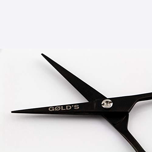 GØLD´s Bartschere inkl. Etui, Bart- und Schnurrbartschere, Moustache-Schere, perfekt zum Bart und Schnurrbart stutzen