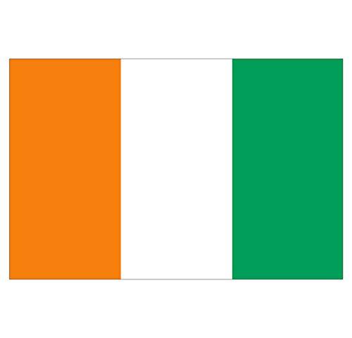 Supstick Sticker Land Vlag Ivoorkust 15 x 10 cm