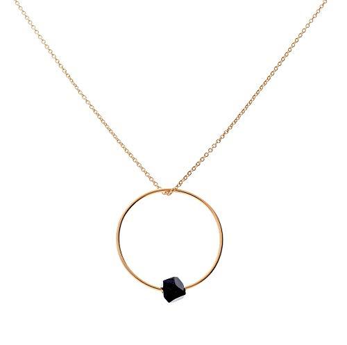 iCrush süße Halskette Black Luna Rosegold ca. 60 cm lang, verstellbar