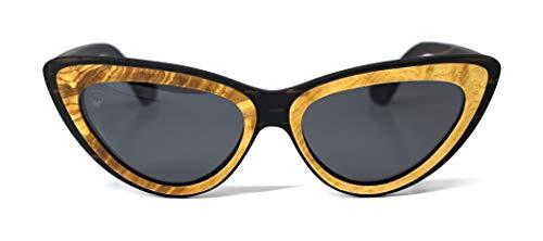 Óculos de Sol Michele, Mafia Wood Exclusive Wear, Feminino, Preto, M