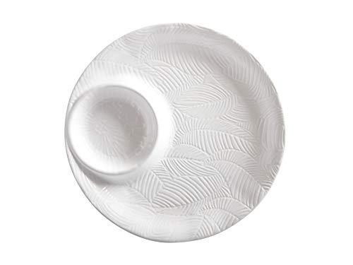 Maxwell & Williams Panama - Piatto da portata in gres, 32 cm, colore: Bianco
