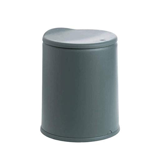 Basura de plástico, Papel de Basura con Tapa de Cocina Baño de baño Papel doméstico Basura de la Oficina de la Oficina (Color: Verde) kshu (Color : Green)