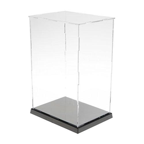 HomeDecTime Vitrina de Acrílico Transparente Caja de Metacrilato Autoensamblaje Figuras de Coches a Prueba de Polvo -  16.5x12.5x24.5cm