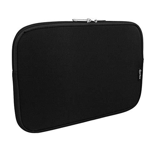 emartbuy Jet Schwarz/Schwarz Wasserdicht Neopren Soft Zip Case Cover Hülle 11-12.2 Zoll Kompatibel Mit Ausgewählte Geräte Unten Aufgeführt