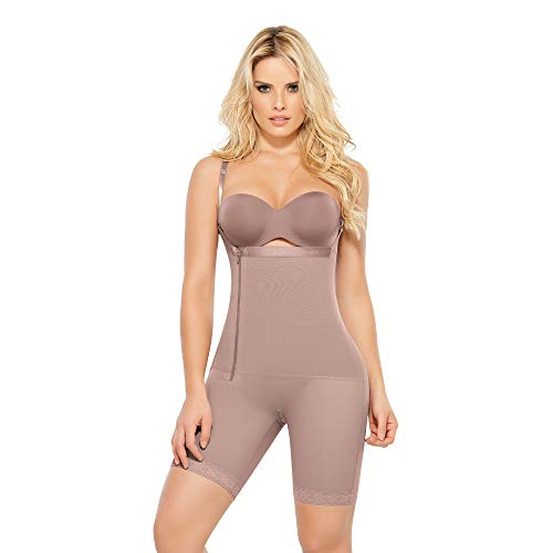 Ann Chery Comfort Line High Compression/Post Surgical/Daily Use/Body Shaper/Liposuction/Faja Colombiana ((Waist 25,5-27,5 Inch) Small / 32, 5148-Angelina-Cocoa)