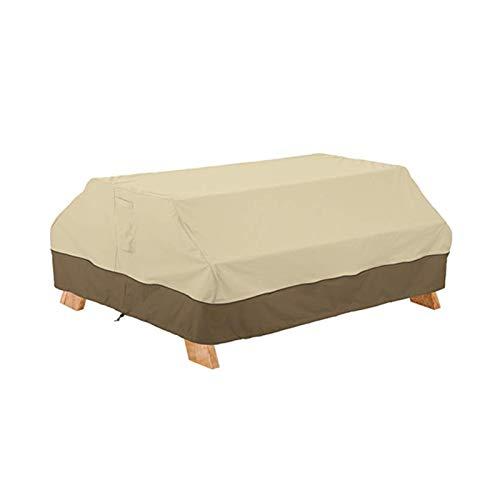 Kei Cubiertas de Muebles de Jardín Cubiertas de Mesa de Patio Cubierta de Muebles de Patio Oxford 420D Cubierta Impermeable a Prueba de Viento Anti-UV,Beige,177x139x76cm