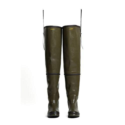 GoodYear Outdoor - Cuissardes de pêche - chasse technique en caoutchouc - Fait main - C-RUB PLUS