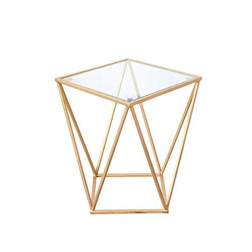 LY88 woonkamer glazen koffietafel, mini creatieve meubels bank bijzettafel salontafel
