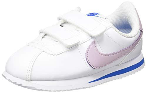 Nike Cortez Basic SL PSV Running Shoe White Iced Lilac Soar MTLC Silver 2 UK
