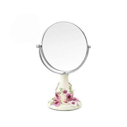 Miroirs à main Maquillage Miroir Miroir De Coiffeuse À Double Face De Mariage Lunettes De Magnification En Métal Fantaisie Rétro Miroir