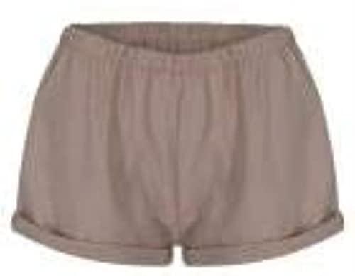 Ourjsncvns Women's Plus Size Casual Shorts Elastic Waist Summer Beach Shorts Wide Leg Loose Fit Comfy Lounge Short Pants