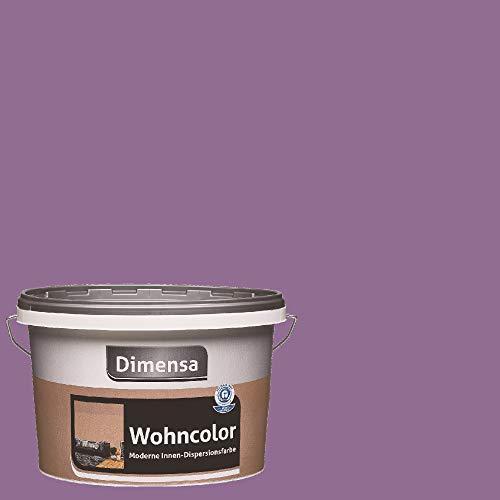Dimensa Wohncolor bunte Wandfarbe violett lila 2,5 Liter, krokus violett lila