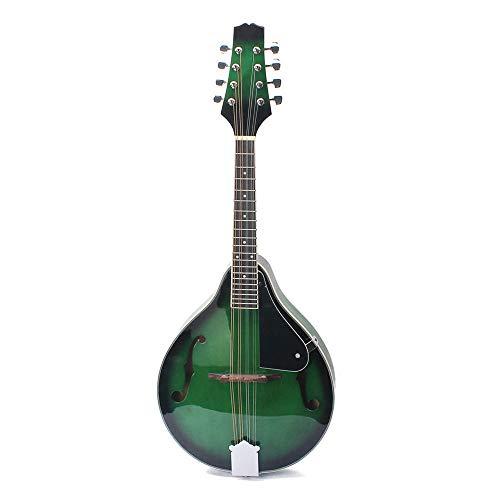 HO-TBO gitaar, klassiek instelbaar compensated brug design groene kleur van de nieuwe soort mandoline gitaar met 8 snaren F-gitaar mandoline gitaar balans en sterke stem