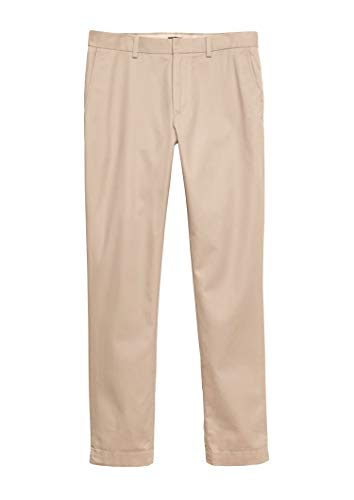 BANANA REPUBLIC Men's Aiden Chino, Slim Fit, Non-Stretch (34x30, Khaki)