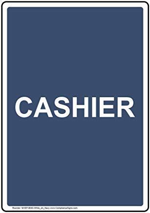 Wendana vertikales Kassenschild, lustiges Wanring Schild, Torschild, Hence Yard Schild, 20,3 x 30,5 cm mit englischem Text, Weiß auf Marineblau