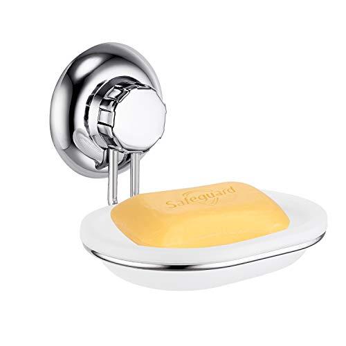 MaxHold Saugschraube Seifenschale / Seifenhalter,Befestigen ohne bohren – Edelstahl rostet nicht – Küchen & Badezimmer Aufbewahrung