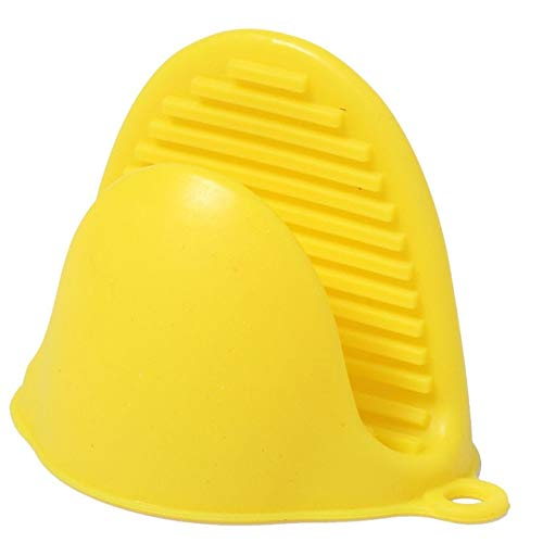 1Pc Küche Silikon Hitzebeständige Ofenhandschuhe Kochen Backhandschuhe Isolierung Antihaft Anti-Rutsch-Topf Topfhalter-Yellow