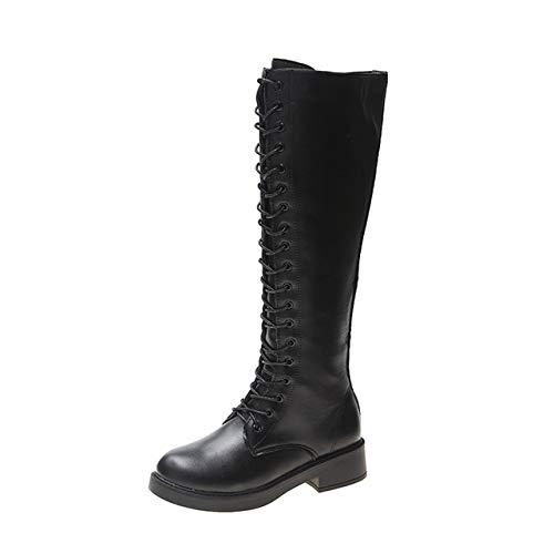 Hongya 2020 Zwarte Knie Hoge Laarzen Vrouwen Platform Gothic Schoenen Vrouwen Wit Rood Leer Warm Bont Laarzen Winter Pluche Laarzen