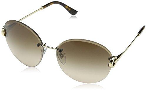 Bulgari Damen 0BV6091B 278/13 61 Sonnenbrille, Gold (Pale Gold/Browngradient)