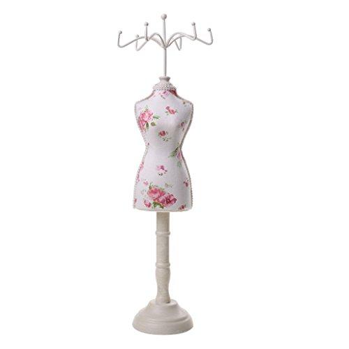 Sharplace Modelo Femenino Cheongsam Vestido Exhibición Joyería Anillo Pulsera Collar Soporte Soporte - Jardín de Flores
