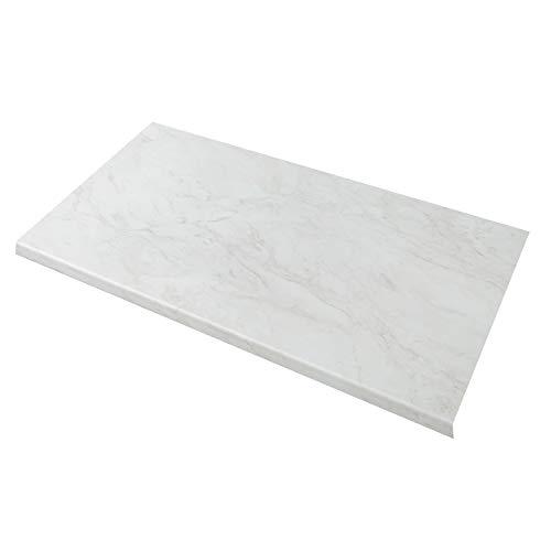 WORKTOPEXPRESS Weißer Marmor Arbeitsplatte, Steinoptik, Westag Küchenarbeitsplatten, 39mm (3000mm X 600mm X 39mm)