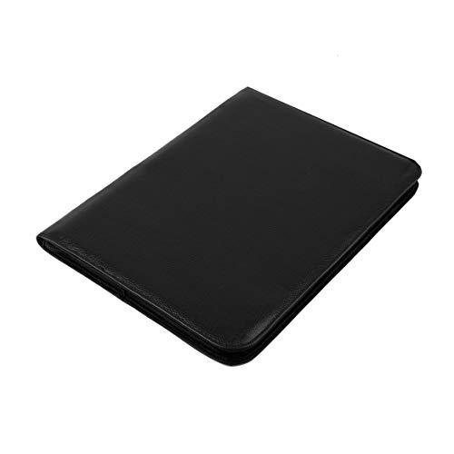 Nuevo y de alta calidad Estuche de cuero negro Buena calidad de cuero de la PU Cremallera negra Estuche para pluma para 48 plumas