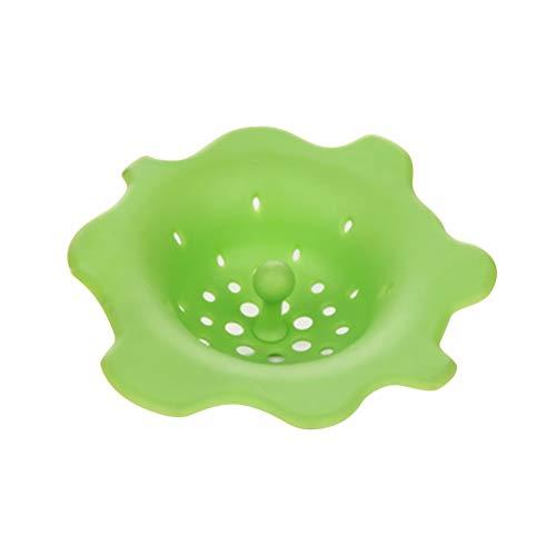 BESTonZON Waschbecken Filter Badewanne Haarsieb Silikon Küche Spüle Sieb (Grün)