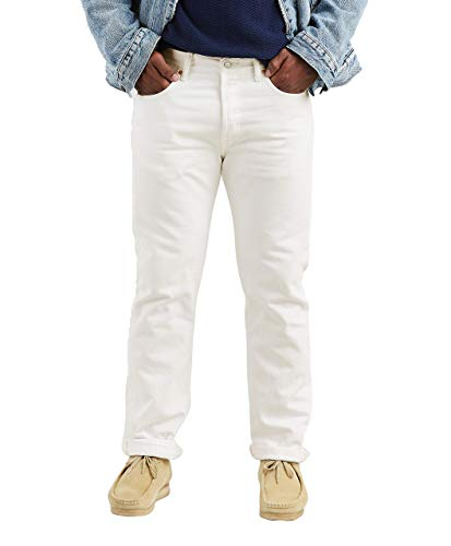 Levi's Men's 501 Original Fit Jeans, Optic White, 36W x 30L