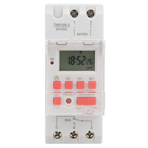 Interruptor temporizador indicador LED DC 24V relé de tiempo de plástico para farolas para equipos eléctricos