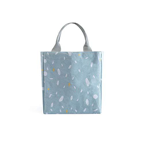 Lunchbox-Tasche, Strahlmund-Isolationsbeutel Student mit Reis, heißem und kaltem Beutel Isolierter Heizkörper, Mittagessen @ Warmer Tag - blau