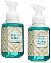 Bath and Body Works 2 Pack White Tea & Sage Gentle Foaming Hand Soap 8.75 Oz.