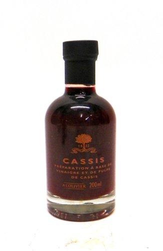 A L'Olivier Black Currant Fruit Vinegar, 7-Ounce