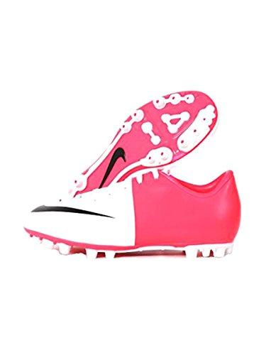 Nike - 509111 - Jr Victory AG - Bota De Fútbol - Junior - Color : Blanco/Fucsia - Talla UK : 1.5