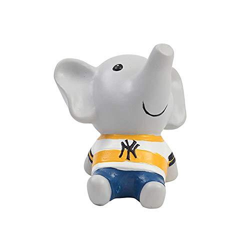 WOOMAX Jardín Animal Adornos Lindo Pupila Elefante Divertido Escultura Al Aire Libre Resina Césped Adornos Decoración Interior Al Aire Libre Figuras Niños Regalo