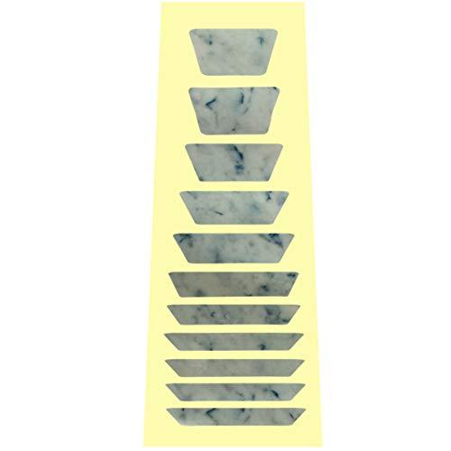 Healifty Gitarre Griffbrett Aufkleber PVC Trapez Shell Aufkleber Gitarre Griffbrett Aufkleber Griffbrett Inlay Aufkleber Geschnitzte Aufkleber für Bassgitarre Musikinstrumente