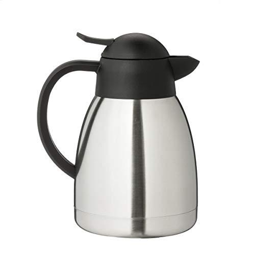 METRO Professional Isolierkanne Edelstahl | 1,0 Liter | Thermoskanne | doppelwandig | Kaffeekanne | Teekanne