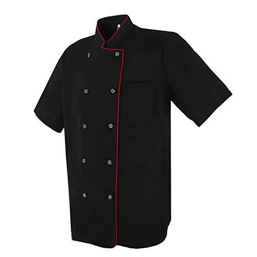 MISEMIYA - Giacche Cuoco Chef Giacche Uomo Fantasia Signore con Bottone RIFORMATO - Ref.8421B - X-Large, Nero