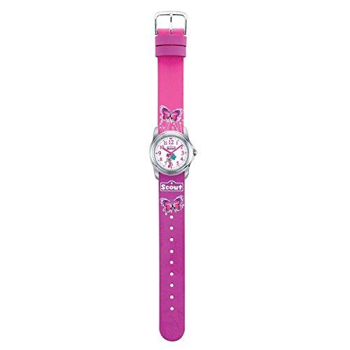 Scout Mdchen Analog Quarz Uhr mit Lederimitat Armband 280301024