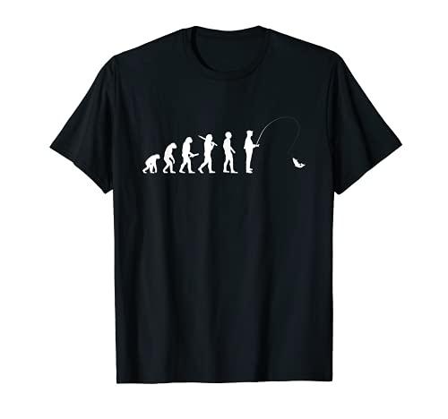 人類の進化 釣り竿 漁師 釣り人 面白い 釣り フィッシング 半袖 サプライズ プレゼント おもしろ アイデア 釣り Tシャツ