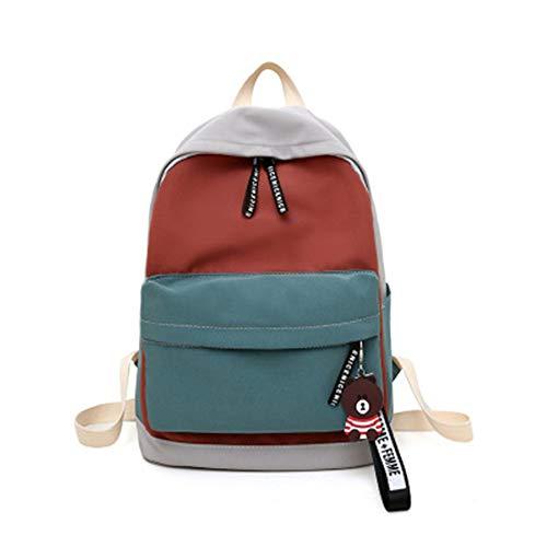Mochila para estudiantes de la escuela media, nueva personalizada, de Amazon para la venta caliente para estudiantes coreano, pequeña y fresca mochila de estilo universitario, poliéster, azul, 16*11*7IN
