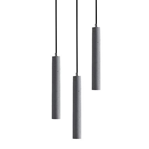 Nordic Lamps en Lantaarns Slaapkamer Hoofd Restaurant bar Creatief Ontwerper Cement Lange Enkele Hoofd Kleine Kroonluchter