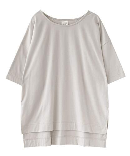 [ズーティー] zootie デザインPlus スリットTシャツ グレージュ フリーサイズ