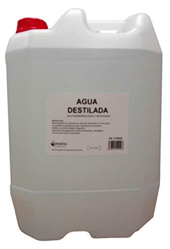 Agua destilada. Envase de 25 litros.