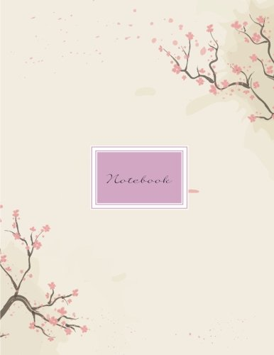 Notebook: japanese style: Notebook 2 in 1 composition : Notebook blank paper ruled/Unruled (Unlined) Blank Notebook : Diary, 110 pages, 8.5' x 11' (Notebook Lined,Blank No Lined)