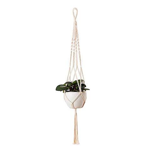 JINGGEGE Großformatige Betriebsaufhänger Korb Handgemachte Seil Töpfe Halter Feinhanfseil Net Blumentopfpflanze Lanyard (Color : Navy Blue)