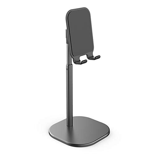 Delmo - Soporte para tablet de escritorio o mando a distancia ajustable de aleación de aluminio para teléfono