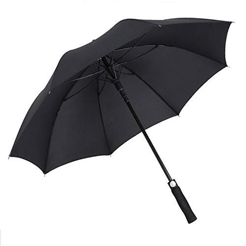 Hmg Impactable Impacto a Prueba de Lluvia Paraguas de Gran tamaño Paraguas Paraguas de Poste Recto, Color: Negro (Color : 75cm)